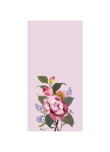 Artikel Pudra Gül Desenli Dekoratif Çift Taraflı Yastık Kırlent Kılıfı 45x45 cm Renkli
